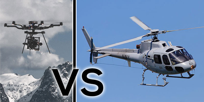 Drones vs Helicopters for Aerial Filming & Photography