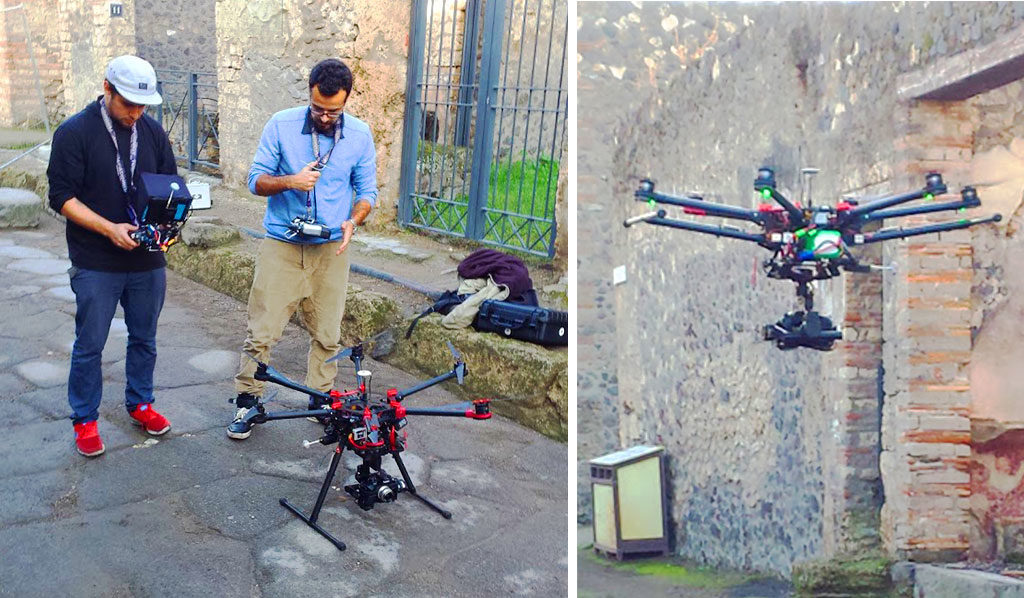 Raising Pompeii Aerial Filming for TV Documentary